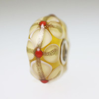 Creamy Yellow Stained Glass bead