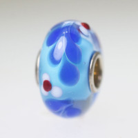 Blue Vine Unique Bead