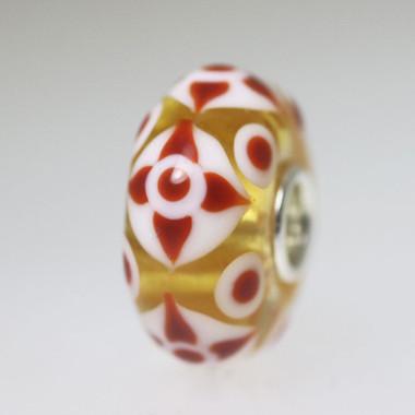 Red Brown Flower bead