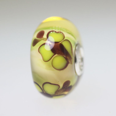 Pale Yellow Butterfly Bead