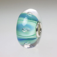 Light Blue Bubble Bead