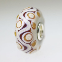 Brown and Ivory Opaque Bead