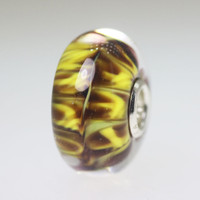 Yellow Brown Unique Bead
