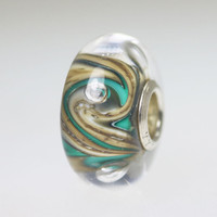 Aqua Small Unique Bead