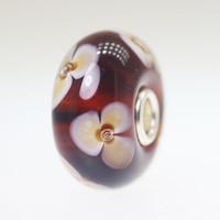 Brown Flower Unique Bead