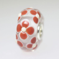 Rust Tone Flower Bead