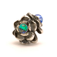 Three Flowers Silver Trollbeads