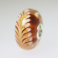 Brown Feather Bead