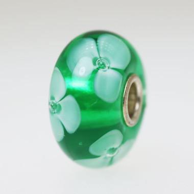 Green Flower Bead
