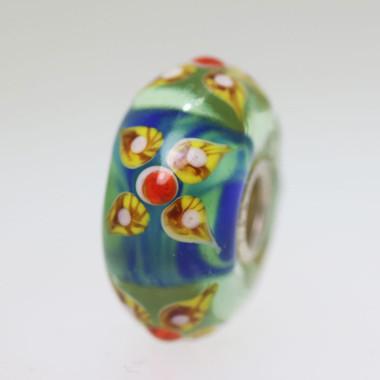Aqua Flower Bead