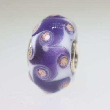 Purple Harlequin Bead