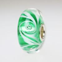 Green Swirl Bubble Bead