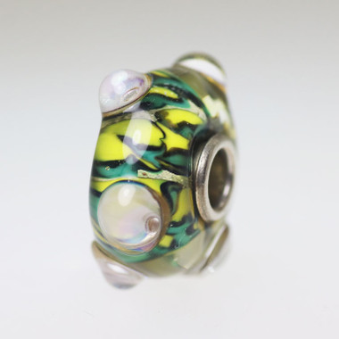 Yellow & Green Budded Bead