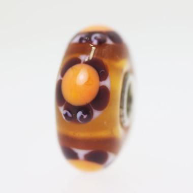 Orange Turtle Bead