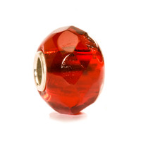 Bright Red Prism Glass Trollbeads