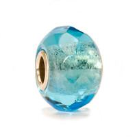 Light Turquoise Prism Glass Trollbeads