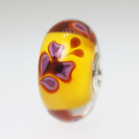 Orange Butterfly Bead
