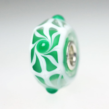 Green & White Unique Bead