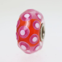 Red & Pink Polka Dot Bead
