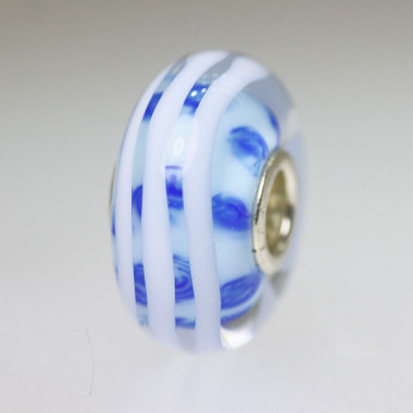 Light Blue and White Unique Bead