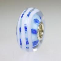 Light Blue and White Unique Bead