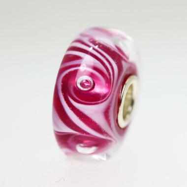 Pink Swirl Bubble Bead