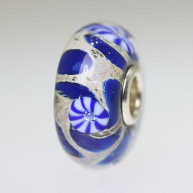 Blue & Beige Unique Bead