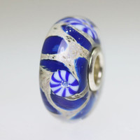 Blue & Beige Unique Bead