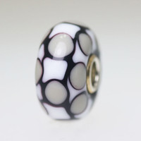 Black & White Checkerboard Bead
