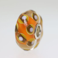 Orange & Glitter Bead
