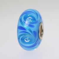 Aqua Swirl Aqua Bead