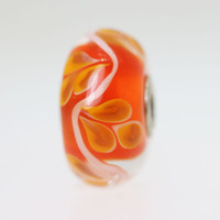 Orange leaf Bead