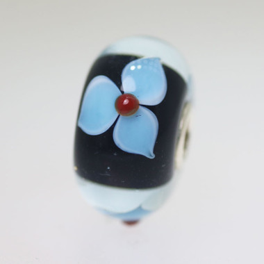Black Flower Unique Bead