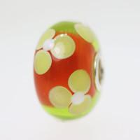 Orange Flower Bead