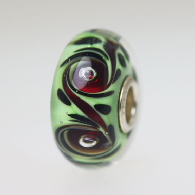 Red and Green Unique Bead