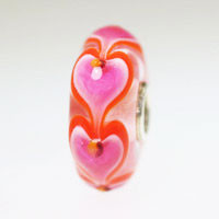 Pink Hearts Bead