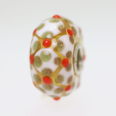 Orange & Glitter Unique Bead