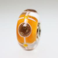 Orange and Glitter Bead