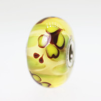 Yellow Unique Butterfly Bead