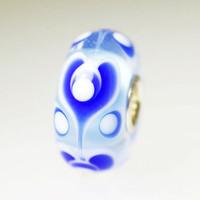 Blue Hearts bead