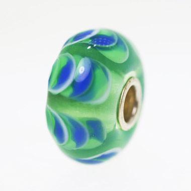 Green Blue Swag Bead