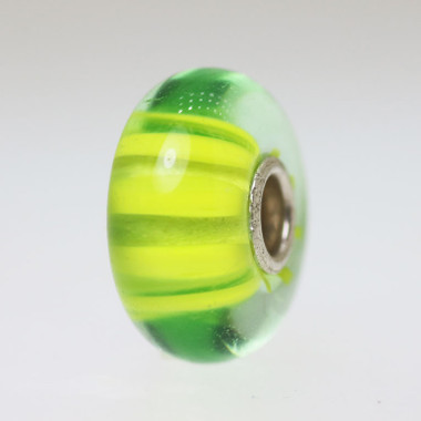 Lime Green Stripe Bead