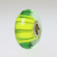 Lime Green Stripe Bead