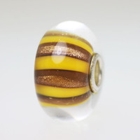 Yellow Gold Unique Stripe Bead