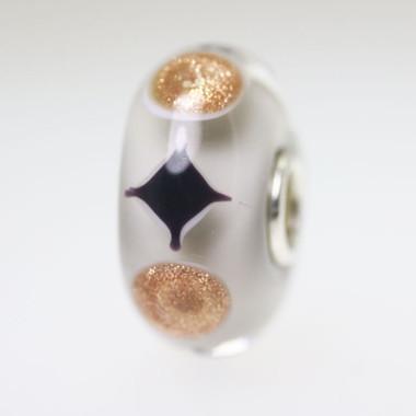 Grey & Glitter Unique Bead