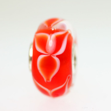 Red Flower bead