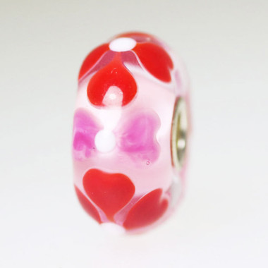 Pink & Red Hearts Bead
