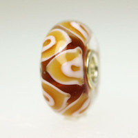 Amber Brown Glass Bead