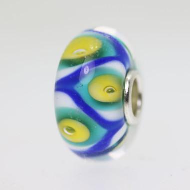 Blue & Yellow Unique Bead