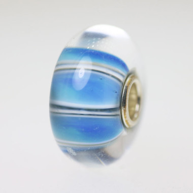 Blue Stripe Unique Bead